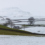 Pen-y-ghent in mist from Horton-in-Ribblesdale