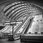 Canary Wharf Underground Station - Upper Bank Street Exit, 13-4-2019 (IMG_5608) Nik HDR Strong 1 Silver Efex Pro 4k