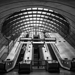 Canary Wharf Underground Station - Upper Bank St Exit, 13-4-2019 (IMG_5605) Nik SEP4 - High Structure Harsh 4k