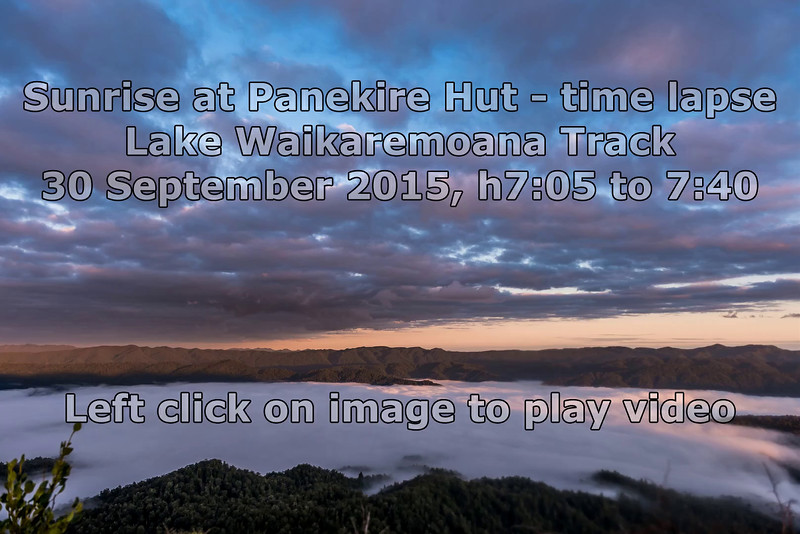 View from Panekire Hut at sunrise - time lapse video