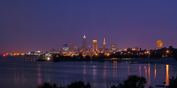 Supermoon over Cleveland
