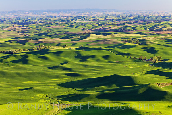 Rolling Palouse hills take from top of Steptoe Butte.