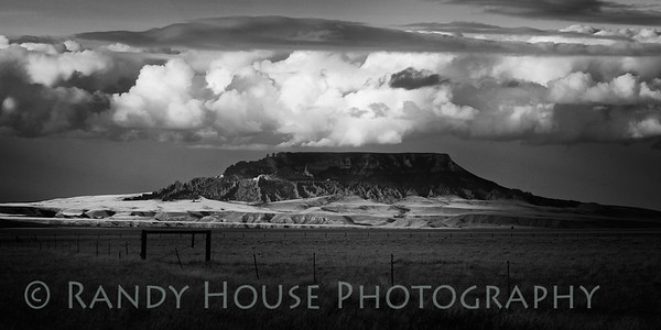 Clouds Over Square Butte, Central Montana (Sharpened)