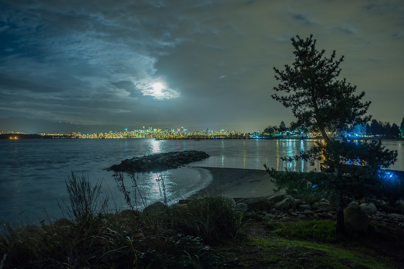 Super Moon Over English Bay