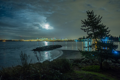 Super Moon Over English Bay