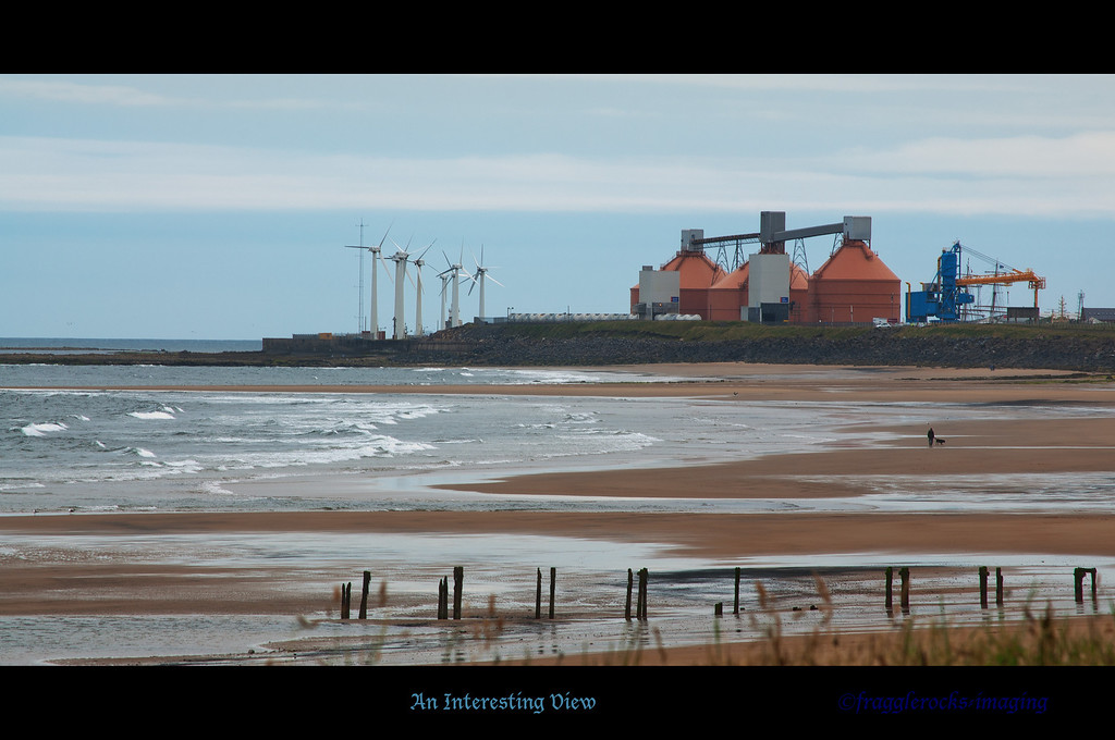 Blyth Power station taken from Cambois, Northumberland