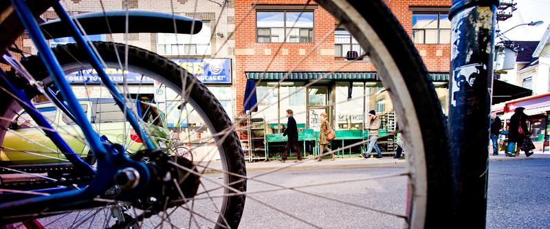 Toronto, Kensington Market, Bicycle Spokes