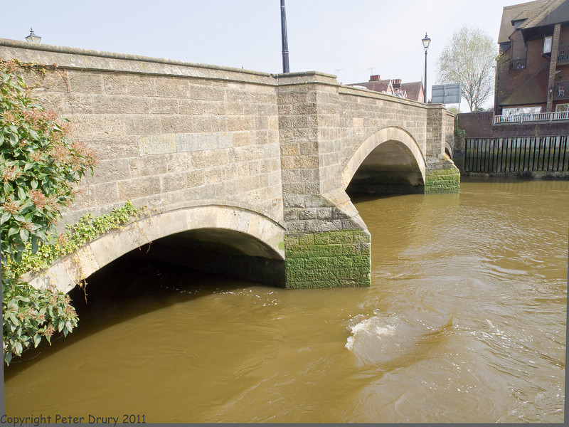 17 April 2011. Road bridge over the River Arun.  Copyright Peter Drury 2011