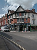 High Street at the junction with the Romsey Road to the right. Copyright Peter Drury 2010