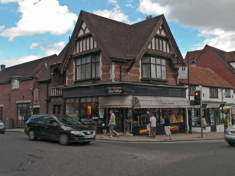 High Street from the west and the junction with Romsey Road (Left). Copyright Peter Drury 2010