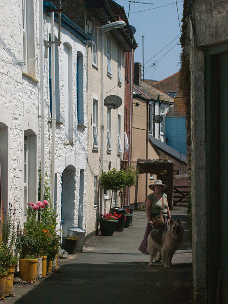 Mevagissey Harbour Street Scenes. Copyright Peter Drury<br /> Another view down Chapel Street,this time from the end of the church.