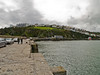 Mevagissey<br /> Looking along the Southern outer Harbour breakwater