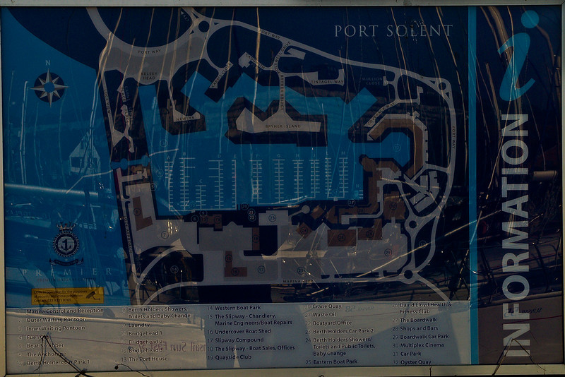 Port Solent Layout. Copyright Peter Drury 2010<br /> Sorry for the reflections but I am afraid I could not have avoided them. This should give an idea of the layout/