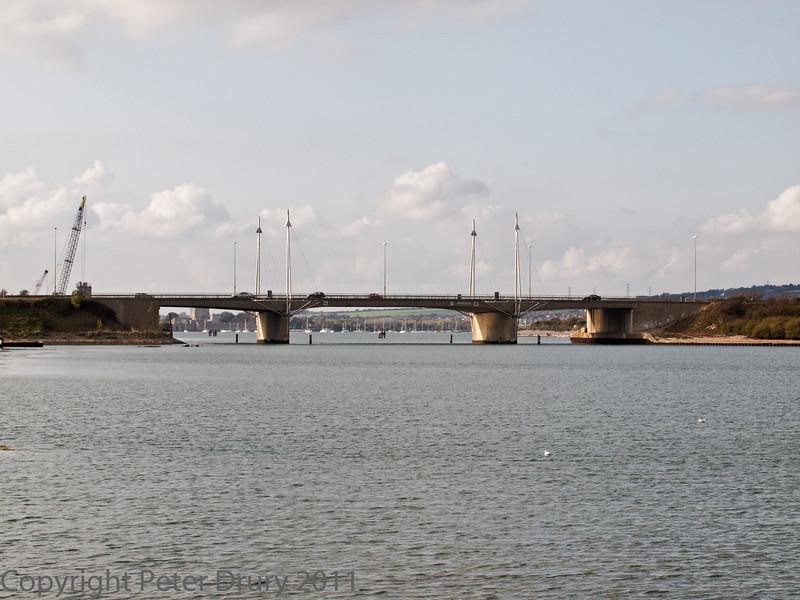 16 Oct 2011 M275 Road Bridge near to the Mountbatten Centre, Portsmouth.