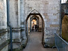 Winchester. Copyright 2009 Peter Drury<br /> Winchester Cathedral - arched walkway alongside building