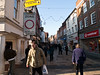 Winchester. Copyright 2009 Peter Drury<br /> Shoppers in the main shopping street