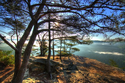 Early morning at the Stone Door Overlook in the Savage Gulf State Natural Area, Tennessee