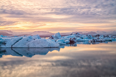 Golden Hour at Jokulsarlon