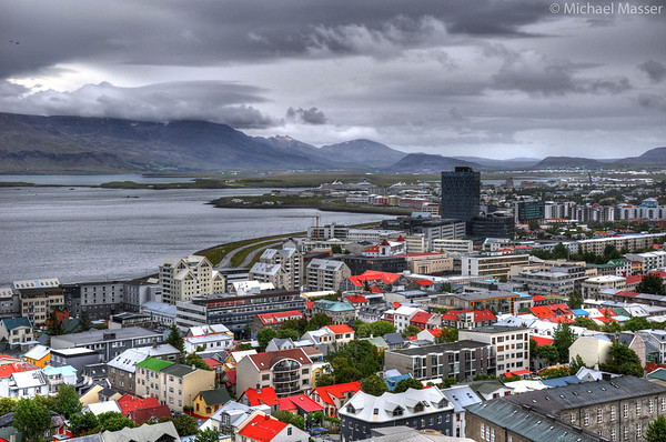 Views-from-the-top-of-Hallgrimskirkja-Reykjavik-HDR-1