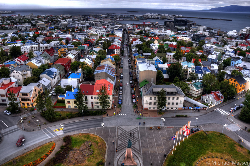 Views-from-the-top-of-Hallgrimskirkja-Reykjavik-HDR-3