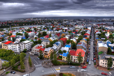Views-from-the-top-of-Hallgrimskirkja-Reykjavik-HDR-2