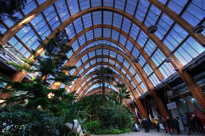 Sheffield-Winter-Gardens-Millennium-Gallery-Vitral-Rooflights-Internal-Towards-Crucible-Theatre-HDR-2