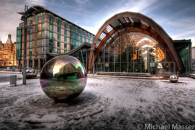 Winter-Gardens-Sheffield-In-The-Snow-HDR