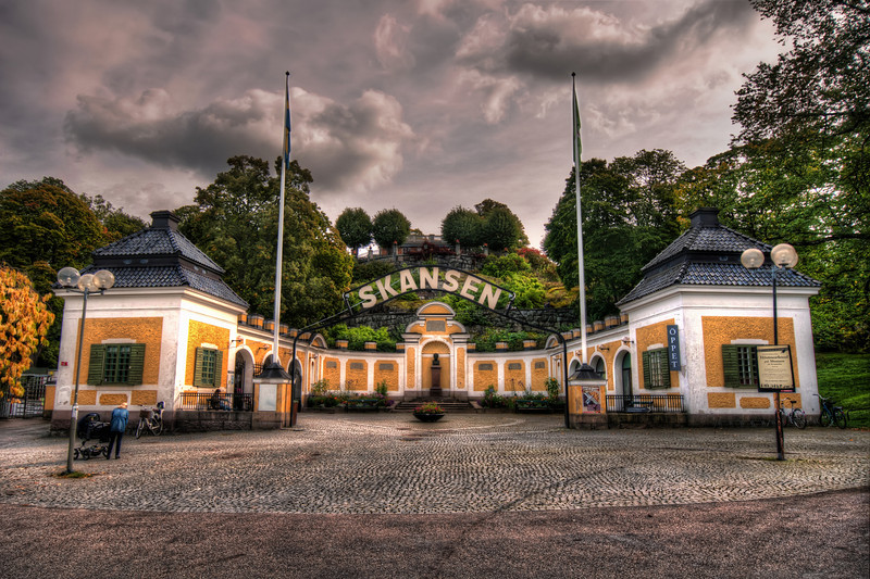 Entrance-To-Skansen-Stockholm-Sweden-HDR