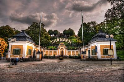 Entrance-To-Skansen-Stockholm-Sweden-HDR