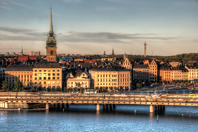 Stockholm-at-Sunset-towards-Gamla-Stan-and-Skansen-from-Monteliusvägen-Sweden-HDR