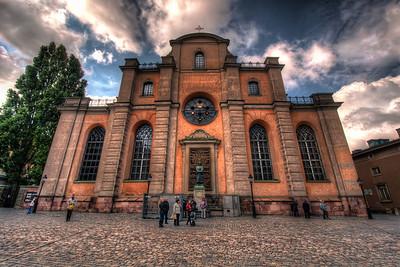 Sankt-Nikolai-kyrka-Church-of-St-Nicholas-Storkyrkan-The-Great-Church-Domkyrka-Stockholm-Cathedral-Gamla-Stan-Stockholm-Sweden-HDR
