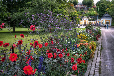 Flowers-at-the-Entrance-to-Skansen-Stockholm-Sweden-HDR