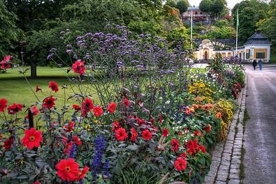 Flowers-at-the-Entrance-to-Skansen-Stockholm-Sweden-HDR