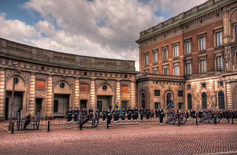 Changing-of-the-Guard-at-the-Royal-Palace-Stockholm-Sweden-HDR
