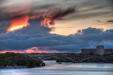 Stockholm-at-Sunset-towards-Langholmsgatan-from-Monteliusvägen-Sweden-HDR-3