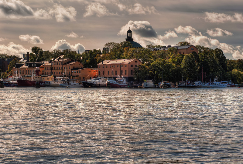 View-of-Skansen-and-the-Harbour-from-Strandvagen-Stockholm-Sweden-HDR