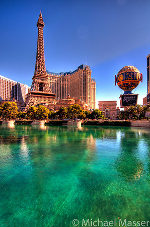 Reflections-in-Vegas-Paris-from-Bellagio-Las-Vegas-HDR