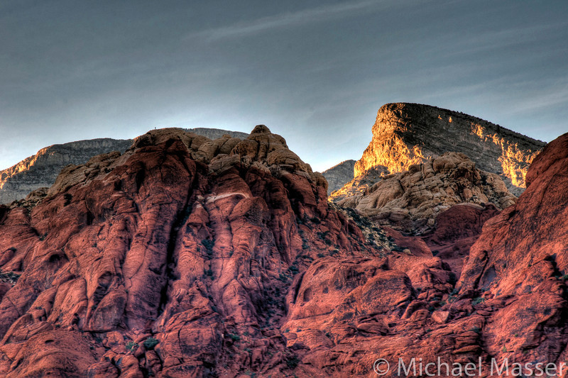 Red-Rock-Canyon-Nevada-at-Sunset-HDR-1