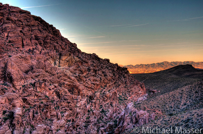 Red-Rock-Canyon-Nevada-at-Sunset-HDR-2