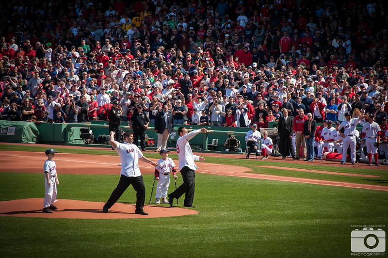Opening-Pitch-Wakefield-and-Varitek-Boston-Red-Sox-Home-Opener-2012-At-Fenway-Park-vs-Tampa-Bay-Rays-16