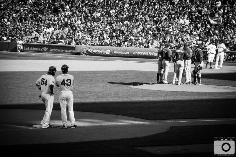 Darnell-McDonald-Evan-Longoria-Boston-Red-Sox-Home-Opener-2012-At-Fenway-Park-vs-Tampa-Bay-Rays-44