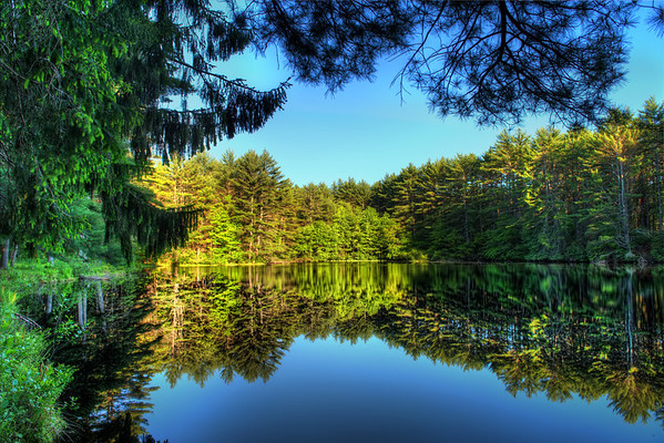 Reflections at Hawley Reservoir HDR - Amherst, Massachusetts, USA