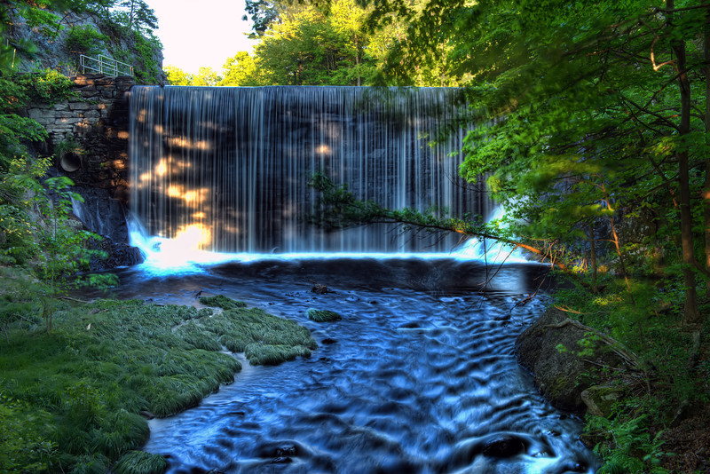 Waterfall At Puffers Pond HDR - Amherst, Massachusetts, USA