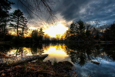 Sunset-at-Puffers-Pond-Amherst-Massachusetts-HDR-2