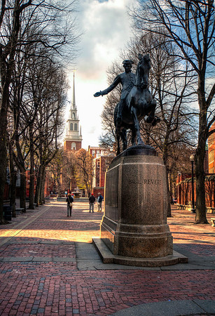 Paul-Revere-Statue-and-Old-North-Church-Boston-Massachusetts-HDR-36