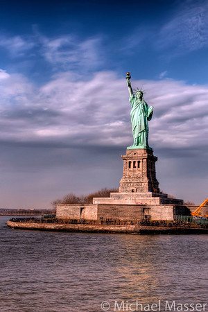 Liberty-Island-from-Ferry-HDR