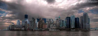 South-Manhattan-in-the-Rain-from-Ferry-HDR