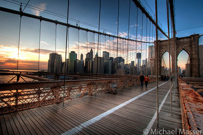 Sunset-on-Brooklyn-Bridge-HDR