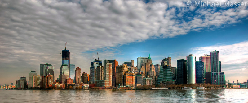 Manhattan-Skyline-from-Statue-Ferry
