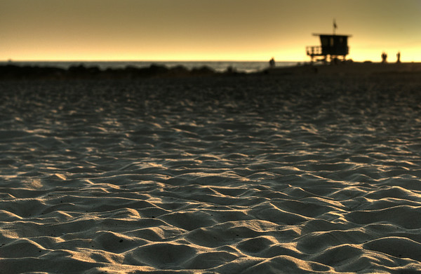 Sunset over Venice Beach, CA.